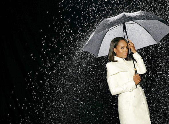 Kerry Washington as Olivia Pope in Scandal promo ad wearing Burberry Spring Summer 2013 white trench coat