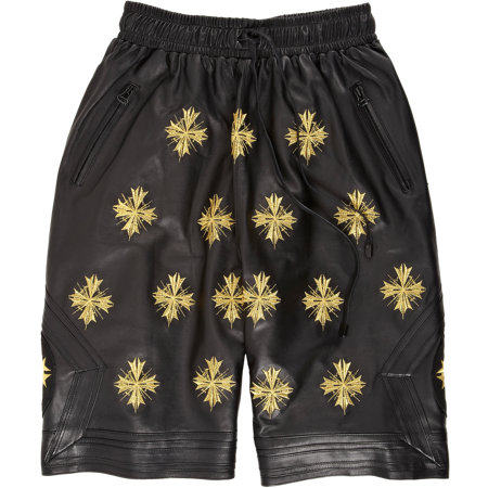 BNY SCC A New York Holiday - En Noir Embroidered Leather Boxing Shorts