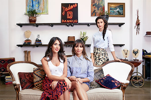Haute news roundup: Fine by Dannijones Rashida Jones, Danielle and Jodie Snyder of Dannijo