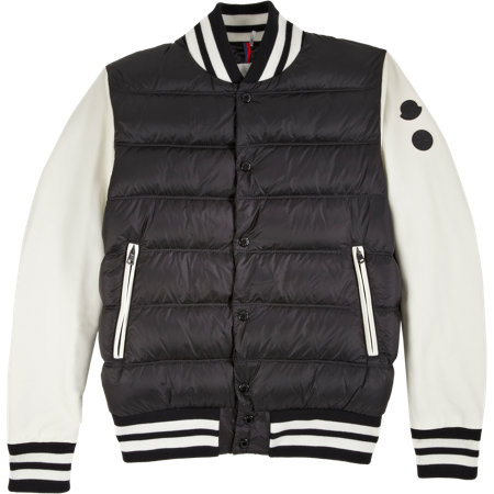BNY SCC A New York Holiday - Moncler Leather Sleeve Puffer Varsity Jacket