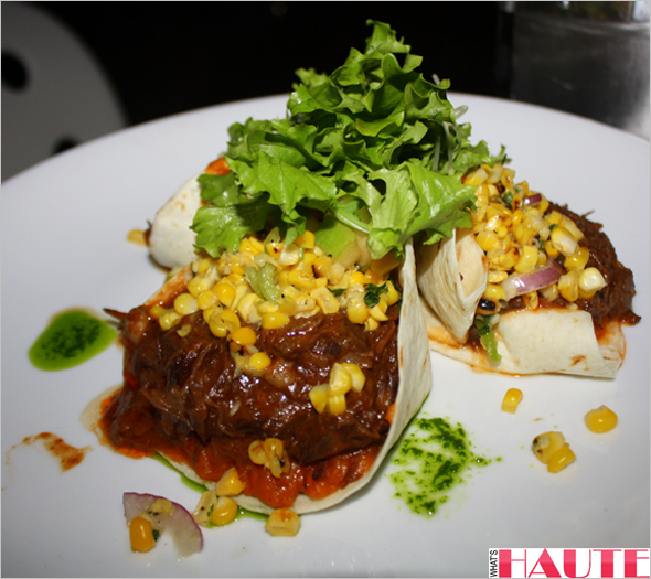 Girls Night Out - Bailey's Vanilla Cinnamon at Cafeteria NYC - Braised short rib tacos