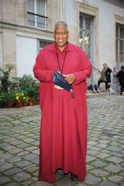 Andre Leon Talley arrives at Delfina Delettrez Presents Jewelry Collection during Paris Fashion Week Womenswear SS14 - Day 7 on September 30, 2013 in Paris, France