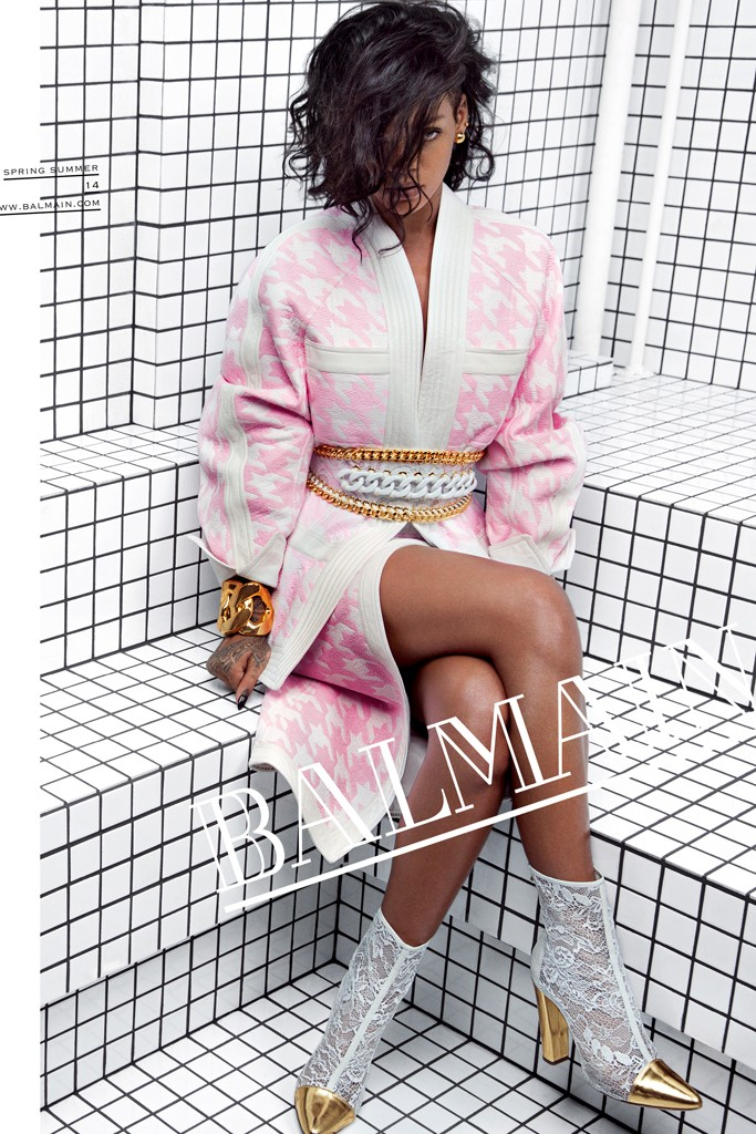Rihanna is the new face of Balmain spring/summer 2014 campaign