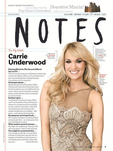 Carrie Underwood chats with Ladies' Home Journal
