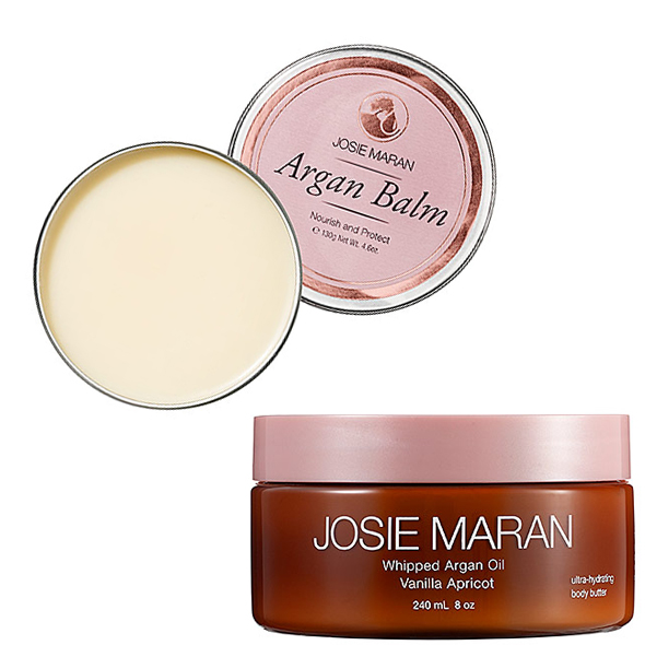 JOSIE MARAN Argan Balm & Whipped Argan Oil Ultra-Hydrating Body Butter Vanilla Apricot