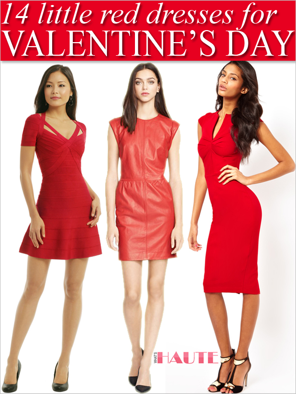 0b6f0fc966 14 Little Red Dresses to Wear this Valentine s Day - HERVÉ LÉGER  Spellbinding Red Dress