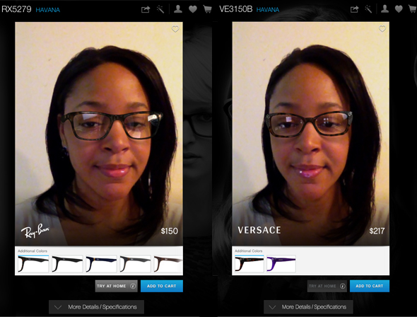 ray ban try on app