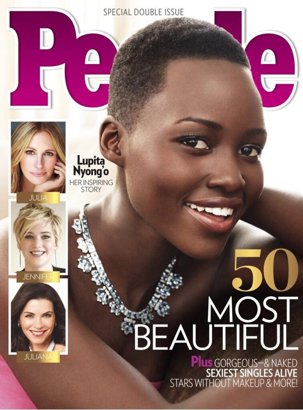 Lupita Nyongo Named People Magazines Worlds Most Beautiful Woman on oscar style trophies