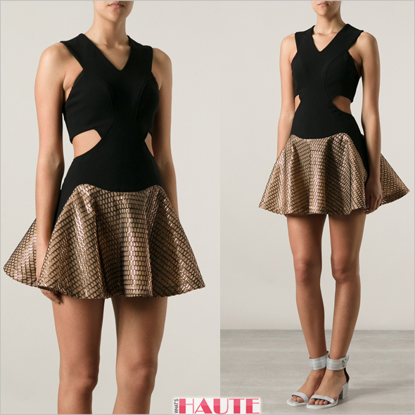 Jay Ahr Towo Tone Dress