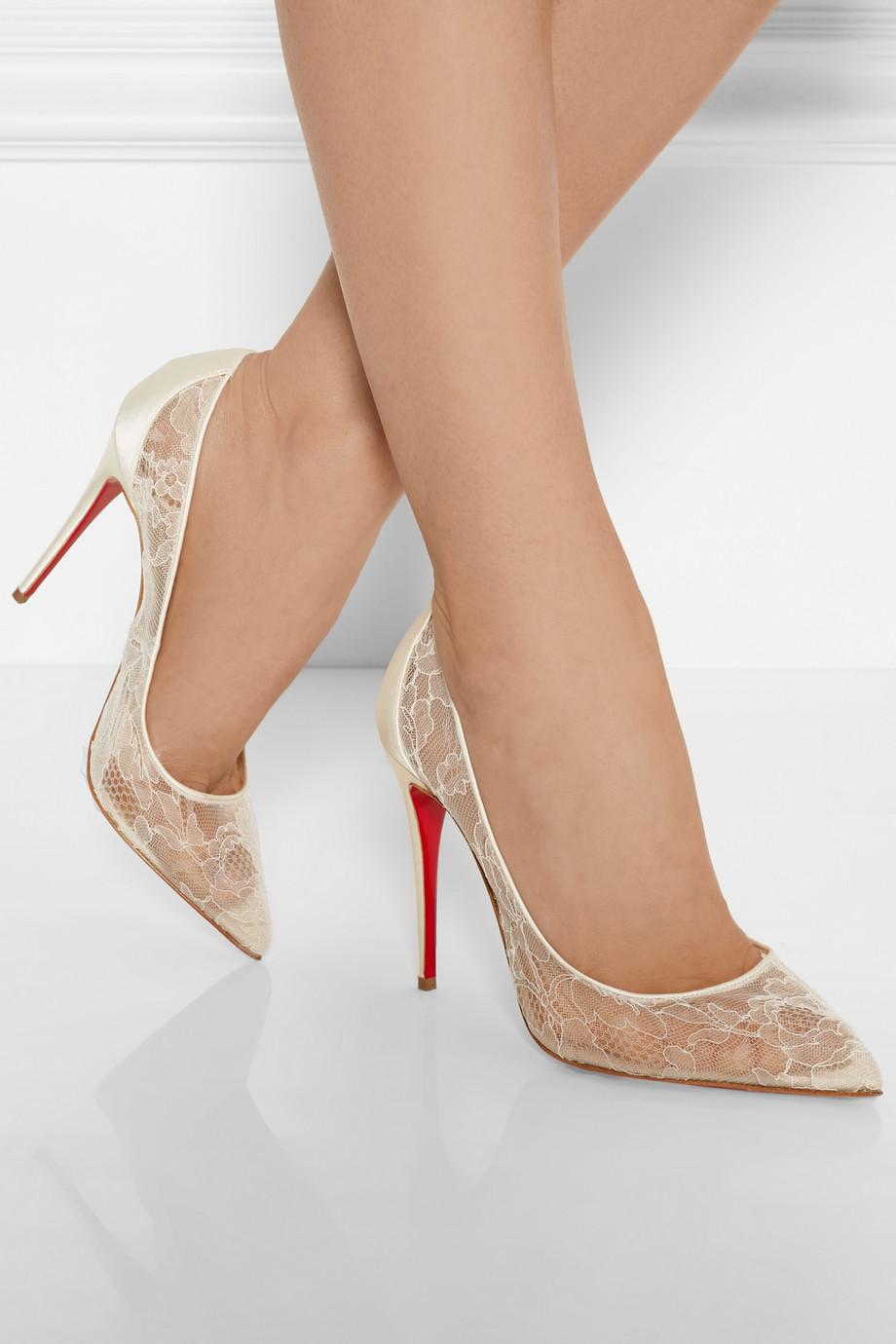 Christian louboutin wedding shoes gold