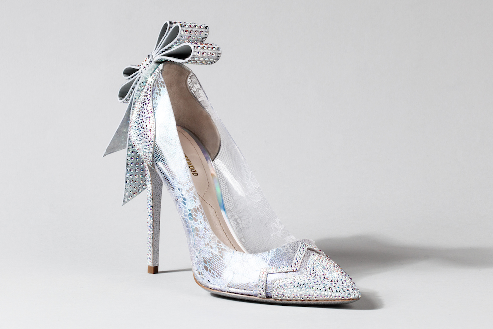 Nine cinderella inspired shoes to wear irl what 39 s haute for Nicholas designer