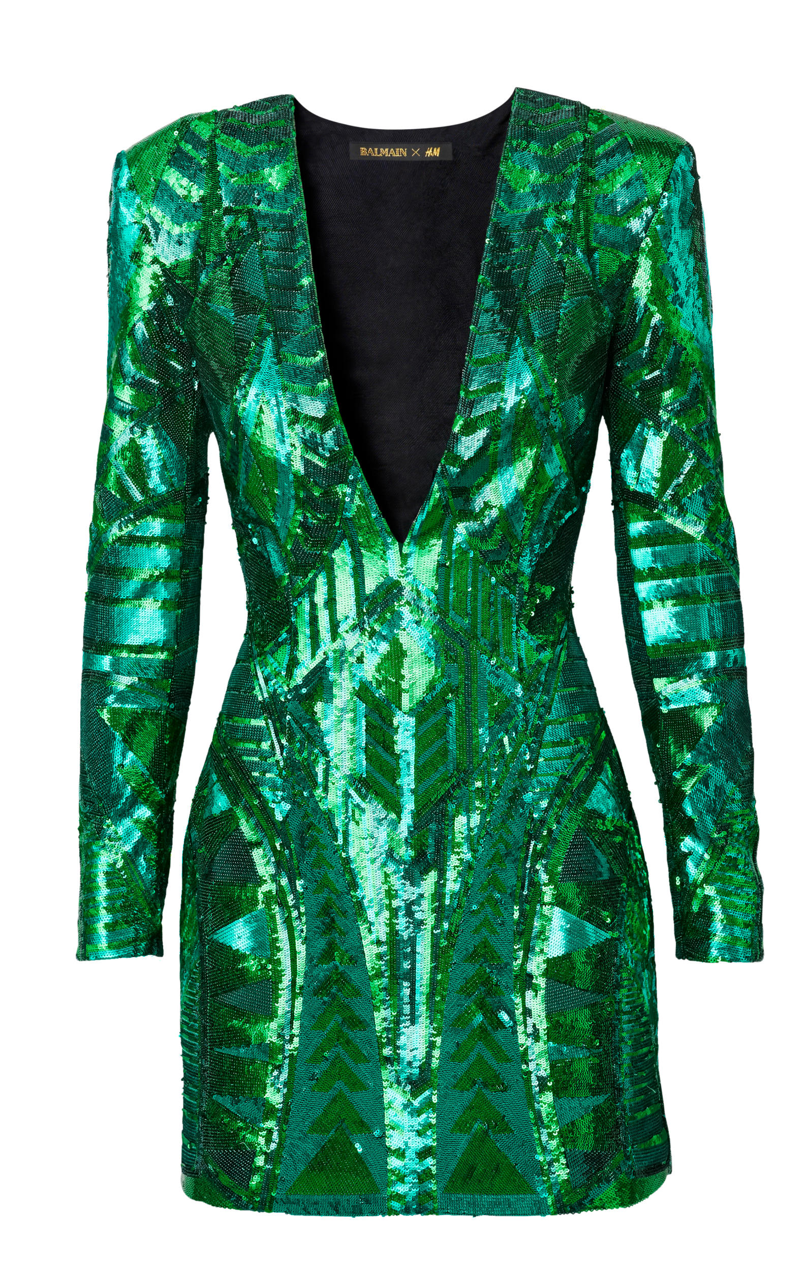 Balmain X H Amp M Metallic Green Dress What S Haute