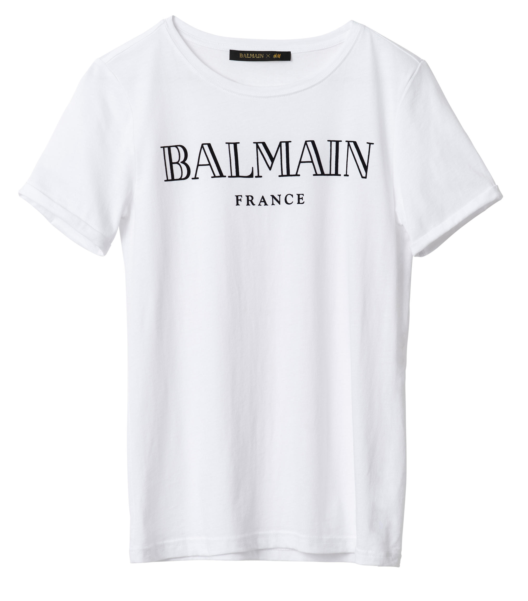 balmain x h m t shirt what 39 s haute. Black Bedroom Furniture Sets. Home Design Ideas