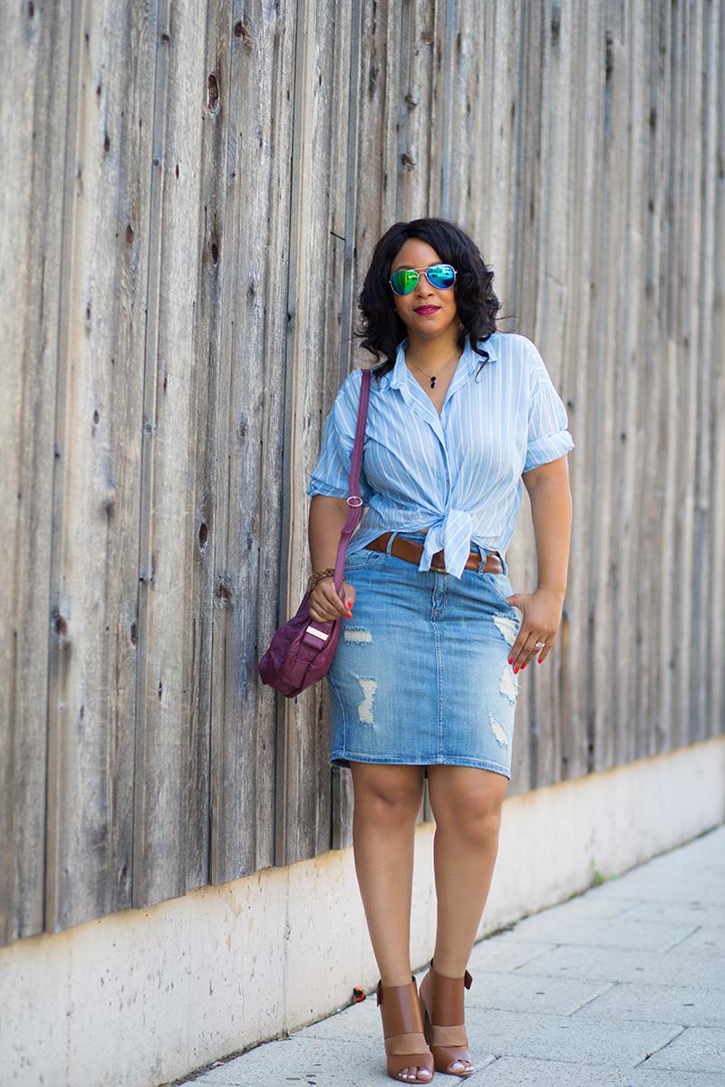 12 ways to wear denim distressed denim skirts what s haute