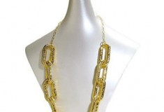 Ted Rossi Python Chain Link Necklace