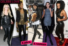 Celebs Love Latex Leggings