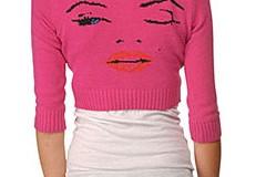 Betsey Johnson 'Wink' Intarsia Cardigan
