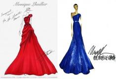 Michelle Obama's Inaugural Dress Sketches