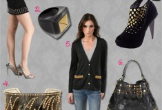 Haute Trend: Black with Gold Studs