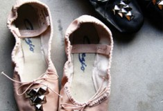Punk Prima Ballerina Chic: Capezio Studded Ballet Slippers