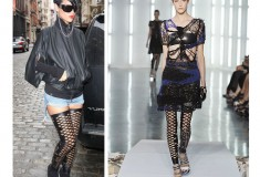 Say it Three Times Fast: Rihanna Rocks the Rodarte Diamond Cutout Leggings
