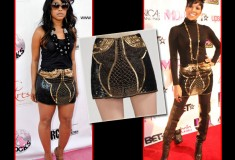 Who Rocked it Hotter: Trina vs. Monica in the Gryphon Sequin Mini Skirt