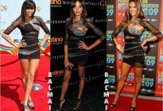 Who Rocked it Hotter: Selita vs. Alessandra vs. LeToya vs. Kate in the Balmain Cut-Out Lace Dress