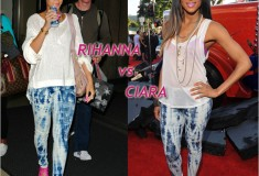 Who rocked it hotter: Rihanna vs. Ciara in the Charley 5.0 Skinny Mini Tie Dye Legging Jean