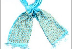 Enter to win the Raj Solid Lurex Studded Scarf in What's Haute Magazine's 5 days of giveaways!