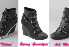 Who did it better: Ash vs. Spring Shoes black wedge sneaker bootie
