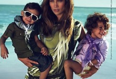 Jennifer Lopez models with twins, Max and Emme – the faces of Gucci Children's collection