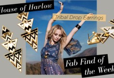 Haute find: House of Harlow 1960 Tribal Drop Earrings