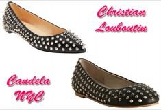 Shoe wars: Christian Louboutin vs. Candela spike studded ballet flats