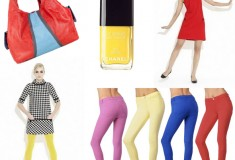 We love colors! See Christian Francis Roth's 60's-inspired frocks, J Brand's candy-colored denim, Free Endearment colorblock bags and more on Weekly Shopping and Goodies