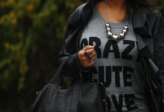 My Style: Crazy Cute Love (Forever 21 sweater + Bagatelle leather jacket + Alexander Wang bag)