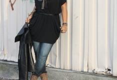"My Style: Take a ""Bow"" (RACHEL Rachel Roy dress + Antique Rivet jeans + Bing Bang necklace)"