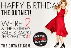 Birthday redux: The Outnet celebrates its 2nd birthday with a $2 sale
