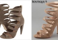 Who did it better? L.A.M.B. Quintessa vs. Boutique 9 Juvela Suede Sandals