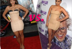 Who rocked it hotter: Angela Simmons vs. Lauren London in Hervé Léger