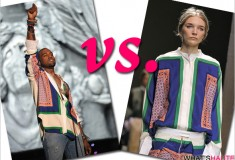 Who rocked it hotter: Kanye West at Coachella vs. Janice Seinen on the runway in a Celine women's blouse