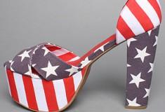 American pride: Jeffrey Campbell El Carmen Shoe in Stars and Stripes