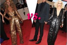 Who rocked it hotter: Iman vs. Gwen Stefani in Stella McCartney sequin jumpsuits