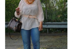 My Style: Bohemian BBQ (H&M sheer tunic top + 7 For All Mankind flared jeans + Ben-Amun necklace)