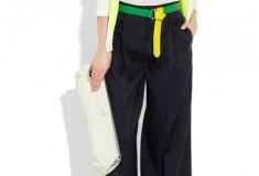 Color me lemon-lime: Jil Sander Reversible two-tone leather belt