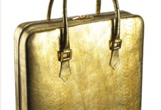 Violet May's KYDD Gold Python Tote is the most luxurious laptop bag in the world