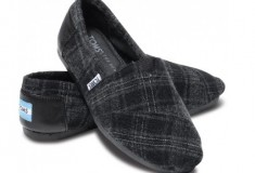 Haute for Fall: TOMS + The Row Italian wool and cashmere shoes