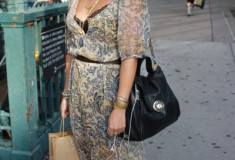 Street style: Lia looks boho-glam in an Anthropologie dress