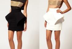 Haute buy: Aqua 'Klingon' Peplum Skirt