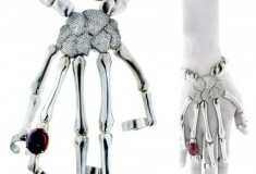 Anatomically chic: the Delfina Delettrez Skeleton Hand Bracelet
