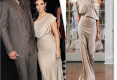 Kim Kardashian wears Victoria Beckham Fall 2010 gown to her New York welcoming party